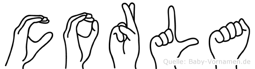 Corla in Fingersprache für Gehörlose