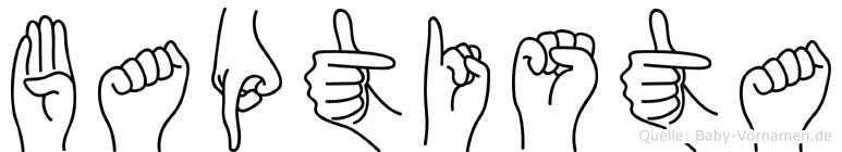 Baptista in Fingersprache für Gehörlose