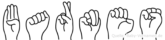 Barnes im Fingeralphabet der Deutschen Gebärdensprache