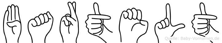 Bartelt im Fingeralphabet der Deutschen Gebärdensprache