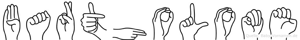 Bartholome im Fingeralphabet der Deutschen Gebärdensprache