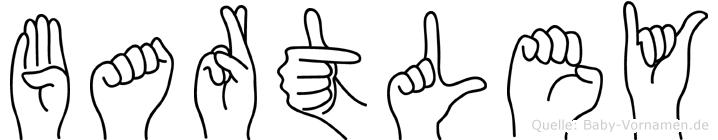 Bartley im Fingeralphabet der Deutschen Gebärdensprache