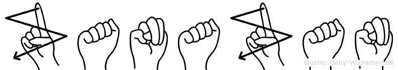 Zanazan im Fingeralphabet der Deutschen Gebärdensprache