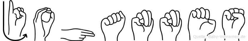 Johannes in Fingersprache für Gehörlose