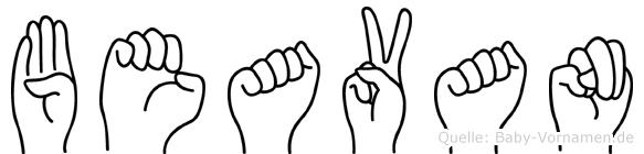 Beavan in Fingersprache für Gehörlose
