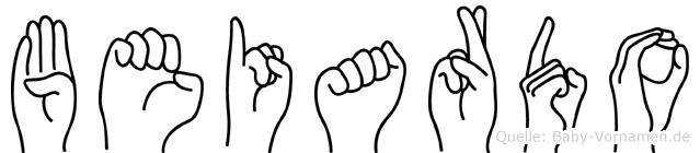 Beiardo im Fingeralphabet der Deutschen Gebärdensprache