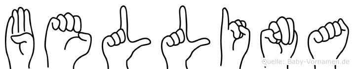 Bellina in Fingersprache für Gehörlose