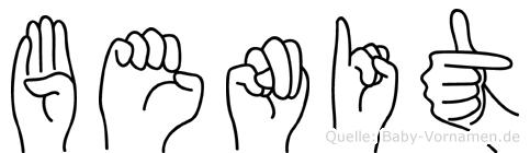 Benit in Fingersprache für Gehörlose