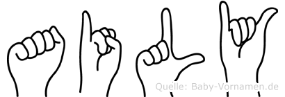 Aily in Fingersprache für Gehörlose