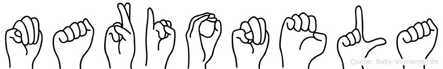 Marionela in Fingersprache für Gehörlose