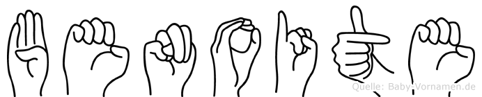 Benoite im Fingeralphabet der Deutschen Gebärdensprache