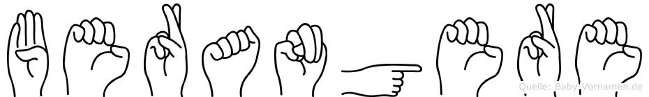 Berangere in Fingersprache für Gehörlose