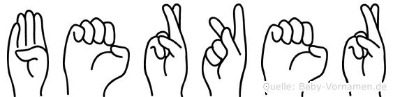 Berker in Fingersprache für Gehörlose