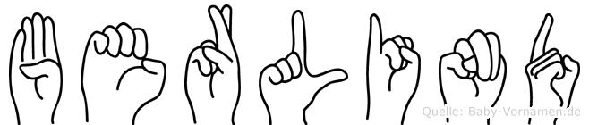 Berlind in Fingersprache für Gehörlose