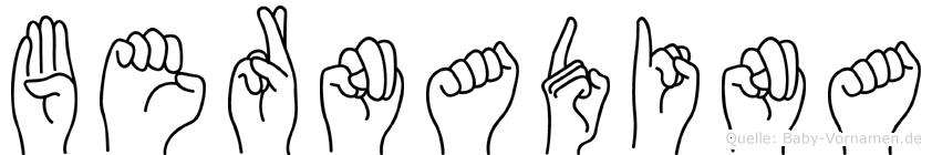 Bernadina in Fingersprache für Gehörlose