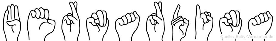 Bernardina in Fingersprache für Gehörlose