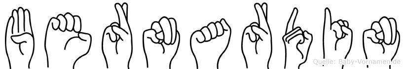 Bernardin in Fingersprache für Gehörlose