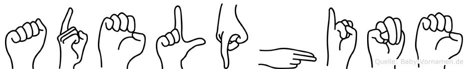 Adelphine in Fingersprache für Gehörlose