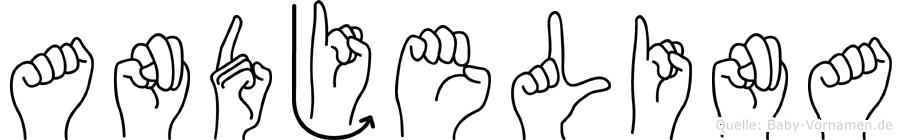 Andjelina im Fingeralphabet der Deutschen Gebärdensprache