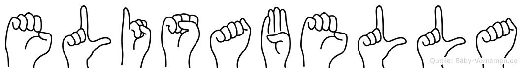 Elisabella im Fingeralphabet der Deutschen Gebärdensprache