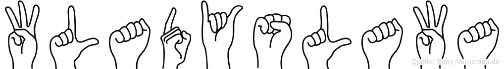 Wladyslawa im Fingeralphabet der Deutschen Gebärdensprache
