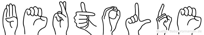 Bertolde in Fingersprache für Gehörlose