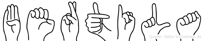 Bertila in Fingersprache für Gehörlose
