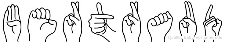 Bertraud in Fingersprache für Gehörlose