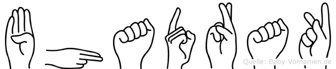 Bhadrak im Fingeralphabet der Deutschen Gebärdensprache