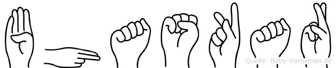 Bhaskar im Fingeralphabet der Deutschen Gebärdensprache