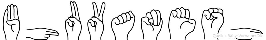 Bhuvanesh im Fingeralphabet der Deutschen Gebärdensprache