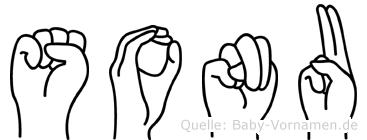 Sonu im Fingeralphabet der Deutschen Gebärdensprache