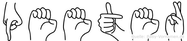 Peeter in Fingersprache für Gehörlose