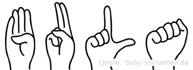 Bula in Fingersprache für Gehörlose