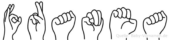 Franea im Fingeralphabet der Deutschen Gebärdensprache