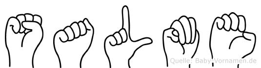 Salme im Fingeralphabet der Deutschen Gebärdensprache