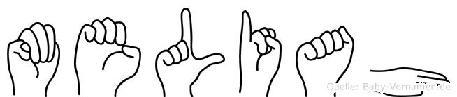 Meliah im Fingeralphabet der Deutschen Gebärdensprache