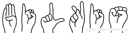 Bilkis im Fingeralphabet der Deutschen Gebärdensprache