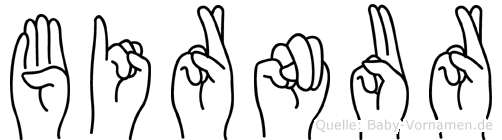 Birnur in Fingersprache für Gehörlose