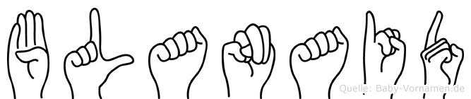 Blanaid in Fingersprache für Gehörlose