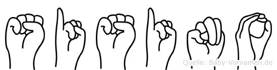 Sisino im Fingeralphabet der Deutschen Gebärdensprache