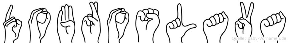 Dobroslava in Fingersprache für Gehörlose
