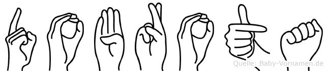 Dobrota in Fingersprache für Gehörlose