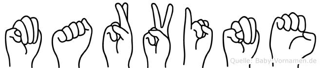 Marvine in Fingersprache für Gehörlose