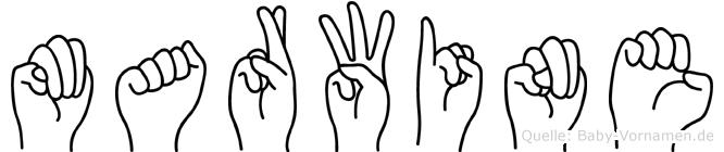 Marwine im Fingeralphabet der Deutschen Gebärdensprache