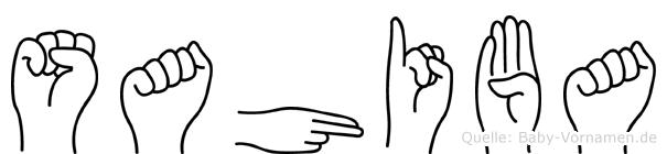 Sahiba in Fingersprache für Gehörlose