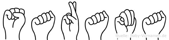 Sarama in Fingersprache für Gehörlose