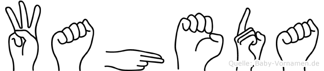 Waheda im Fingeralphabet der Deutschen Gebärdensprache