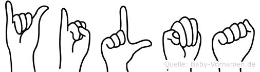 Yilma im Fingeralphabet der Deutschen Gebärdensprache
