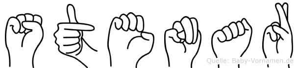 Stenar im Fingeralphabet der Deutschen Gebärdensprache